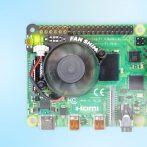 Vezérelhető FAN-SHIM CPU hűtőventillátor Raspberry PI4-hez