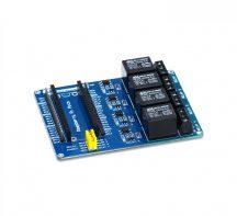 Raspberry Pi Pico Relé modul - 4 csatornás optocsatolt