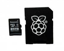 Hivatalos 64GB microSD (A1/C10/U3) memória kártya Raspberry PI4-hez Telepített NOOBS3.3.1 rendszerrel