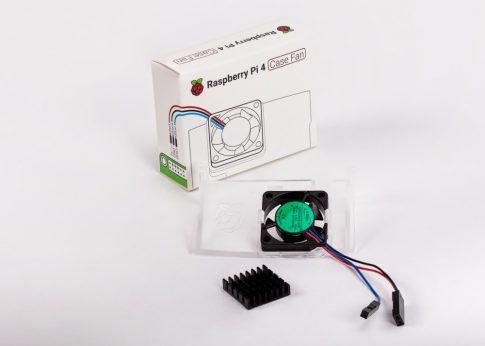 Aktív hűtés Raspberry PI 4 hivatalos házhoz (Ventilátor plusz hűtőborda)