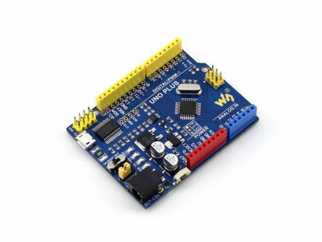 UNO PLUS, továbbfejlesztett Arduino UNO R3 kompatibilis fejlesztői modul