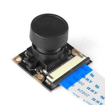 Full HD kamera modul Raspberry PI-hez - 5MP 160° Széleslátószögű halszemoptikával