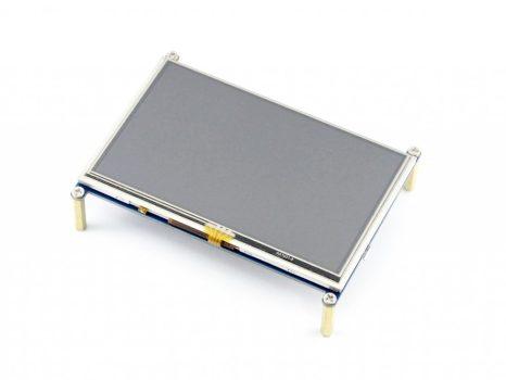 5 inch HDMI LCD, beépíthető, 800×480, rezisztív érintőpanel Raspberry PI-hez