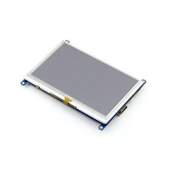 5 inch HDMI LCD, beépíthető, 800×480, rezisztív érintőpanel