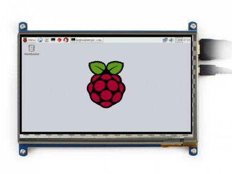 """7""""  IPS, 1024×600, Kapacitiv érintőkijelző - HDMI"""