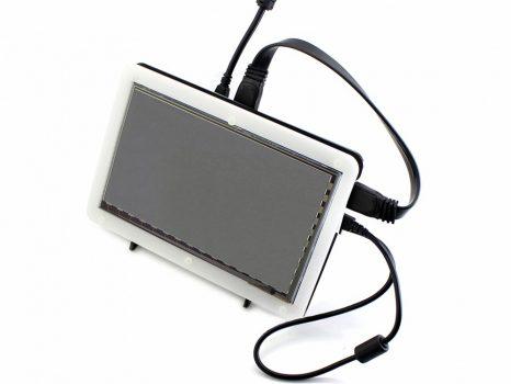 """7""""  IPS, 1024×600, Kapacitiv érintőkijelző - HDMI - házzal"""