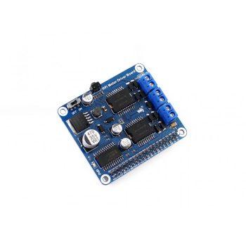 DC Motor / Léptetőmotor meghajtó PI-HAT modul alaplapi infravevővel 7V~40V max 5A