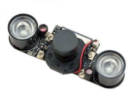 RPi IR-CUT Kamera,5MP OV5647 szenzor, GPIOról vezérelhető ki- és bekapcsolható IR szűrővel, dual IR reflektorral
