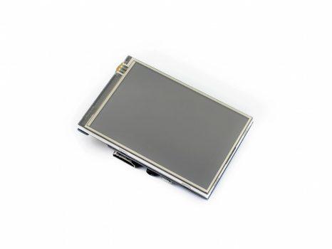 3.5inch HDMI LCD, IPS 480x320 fizikai, 1920x1080 virtuális felbontás / OSD/ Audio Rezisztív érintőkijelző