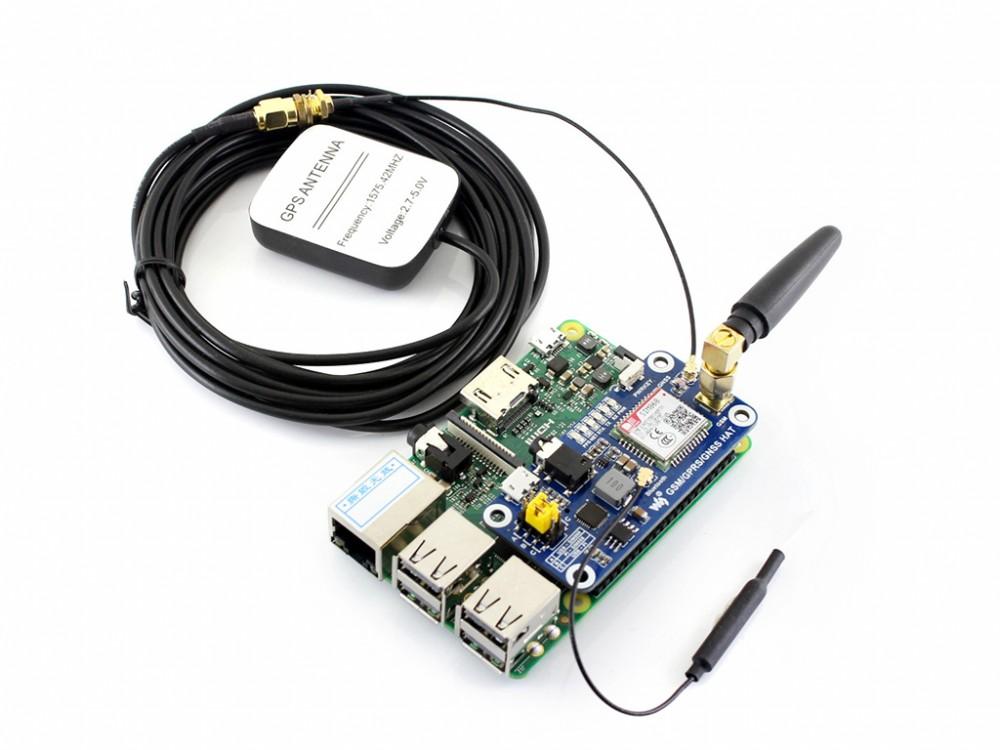 GSM/GPRS/GNSS/Bluetooth Navi-HAT Raspberry Pi-hez ajándék antennákkal