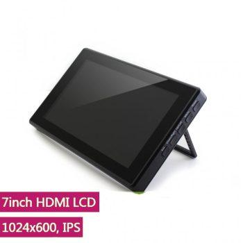7inch HDMI, 1024x600, IPS kapacitív érintőkijelző, karcálló edzett üveg előlappal