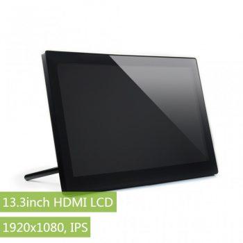 13.3inch HDMI LCD, 1920x1080, IPS , Kapacitív érintőkijelző, Audio , edzett üveg előlappal