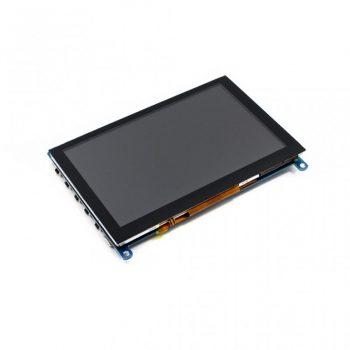 5inch HDMI LCD, IPS 800x480 fizikai, 1920x1080 virtuális felbontás / OSD/ Audio kapacitív érintőkijelző