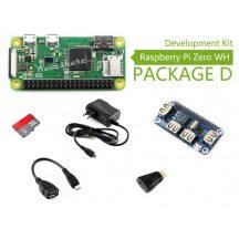 Raspberry Pi Zero WH (built-in WiFi) Development Kit - 4 portos USB HAT modullal