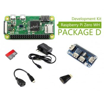 Raspberry Pi Zero WH (built-in WiFi) Development Kit - 4 portos USB HAT modullal