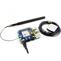 4G / 3G / 2G / GSM / GPRS / GNSS (GPS/GLONASS) HAT modul  Raspberry Pi-hez, LTE CAT4 150Mbps IoT