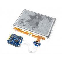 9.7inch e-Paper HAT  Raspberry Pi-hez, 1200x825 felbontás, IT8951 controller, USB/SPI/I80/I2C interface
