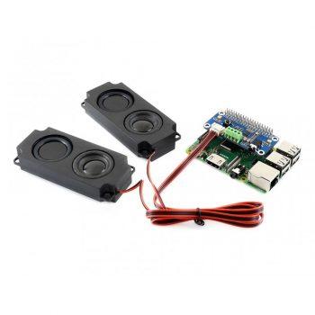 WM8960 Hi-Fi Sound Card HAT Raspberry Pi-hez, Stereo CODEC, high-quality Stereo MEMS silicon Mikrofon, ajándék hangszórókkal