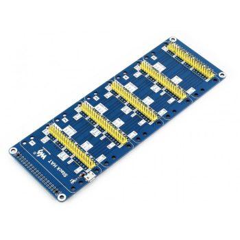Stack HAT Raspberry Pi-hez, max 5 bővítőmodul egyidejű használatához