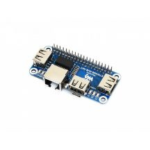 Ethernet / USB HUB HAT bővítő modul Raspberry Pi-hez , 1x RJ45 Ethernet Port, 3x USB Ports