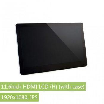 11.6inch HDMI LCD, 1920x1080, IPS , Kapacitív érintőkijelző, Audio , edzett üveg előlappal