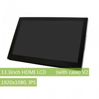 13.3inch HDMI LCD, 1920x1080, IPS , v2 Kapacitív érintőkijelző, Audio , edzett üveg előlappal