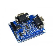 2 csatornás RS232 bővítő HAT modul Raspberry Pi-hez - izolált
