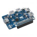 4 portos USB 3.2 Gen1 HUB HAT  Raspberry Pi-hez