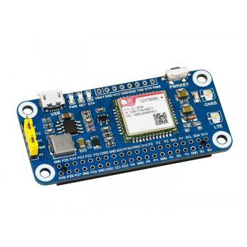 NB-IoT / Cat-M (EMTC) / GNSS HAT Raspberry Pi-hez, a SIM7080G alapján, globálisan alkalmazható