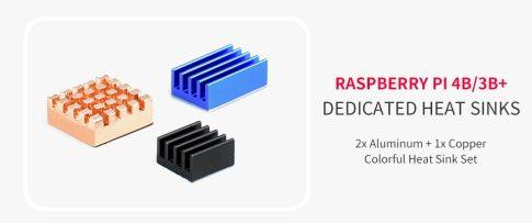 Hűtőbordakészlet Raspberry PI 3B+ és PI4 modellekhez
