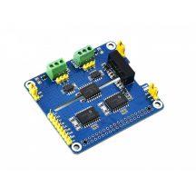 2 csatornás Izolált CAN Bus bővítő HAT Raspberry Pi-hez, MCP2515 + SN65HVD230 Dual Chip, alaplapi védelemmel