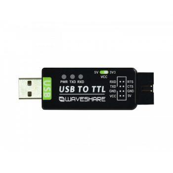 USB 2.0 - UART TTL 3.3V / 5V Serial konverter, FT232RL, industrial kivitel
