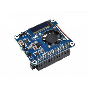 Power over Ethernet (PoE) HAT  Raspberry Pi 3B+/4B-hez OLED kijelzővel 802.3af PoE network