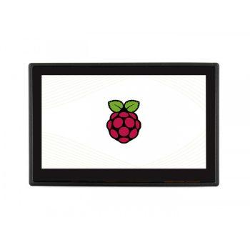 4.3 Kapacitív érintőkijelző, DSI interfésszel, házzal, ventillátorral Raspberry PI számítógépekhez