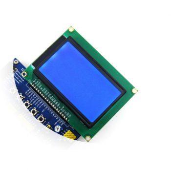 LCD 128x64-ST 3.3V Kék háttérvilágítással