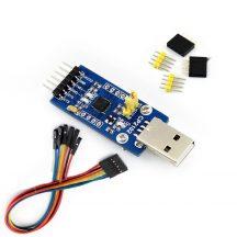 USB 2.0 - UART TTL 3.3V / 5V Serial konverter CP2102 - USB Type A kiegészítő extrákkal