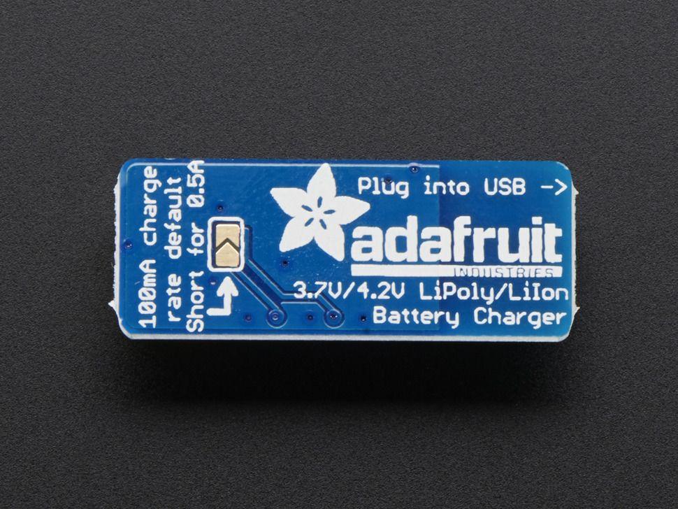 Adafruit Micro Lipo - USB LiIon/LiPoly akkumulátor töltő - v1
