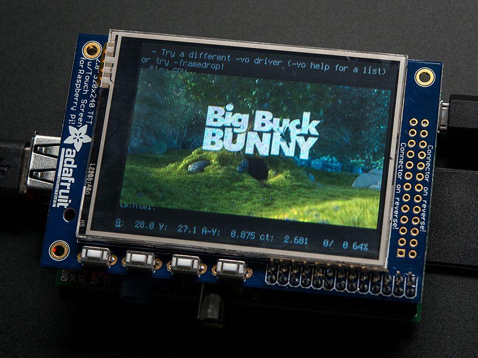 "Raspberry PI kijelző PITFT mini kit - 320x240 2.8"" TFT + érintőpanel"