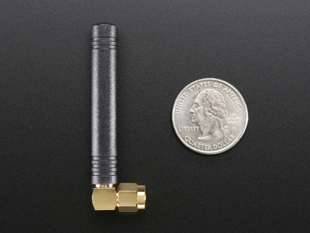 Mini GSM/Cellular Quad-Band Antenna - 2dBi derékszögű SMA csatlakozóval