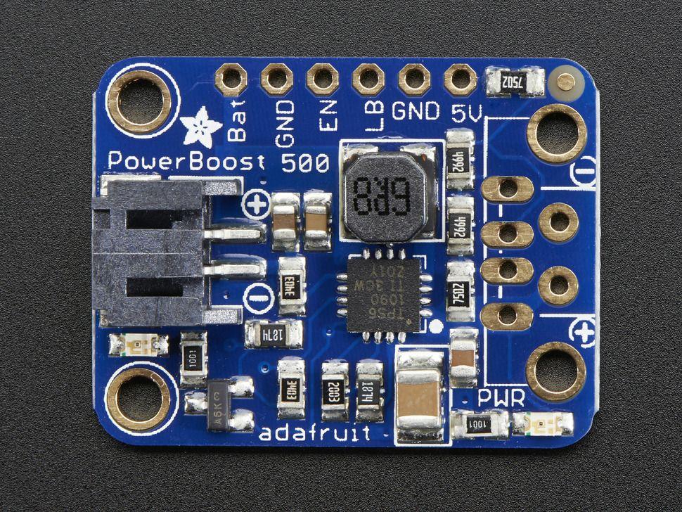 PowerBoost 500 Basic - 5V USB Boost @ 500mA 1.8V bemeneti feszültségtől