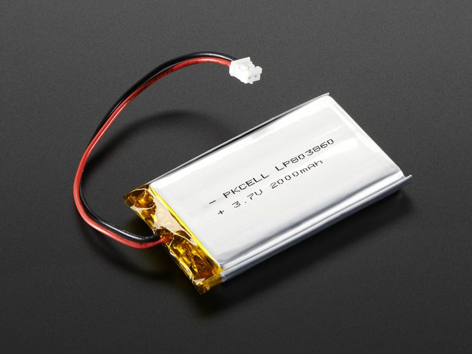 Lithium Ion Polymer Akkumulátor - 3.7v 2000mAh