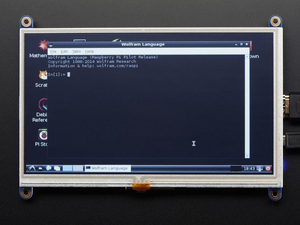 """HDMI 7"""" 800x480 képernyő (Backpack) - nem érintős"""