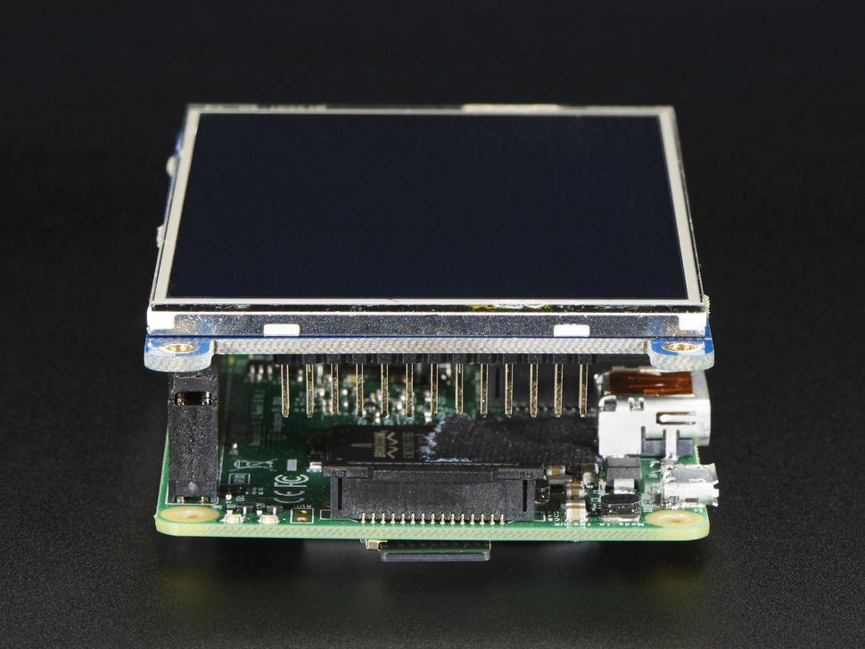 """PITFT Plusz Kijelző - 480x320 3.5"""" TFT + érintőpanel Raspberry PI-hez"""