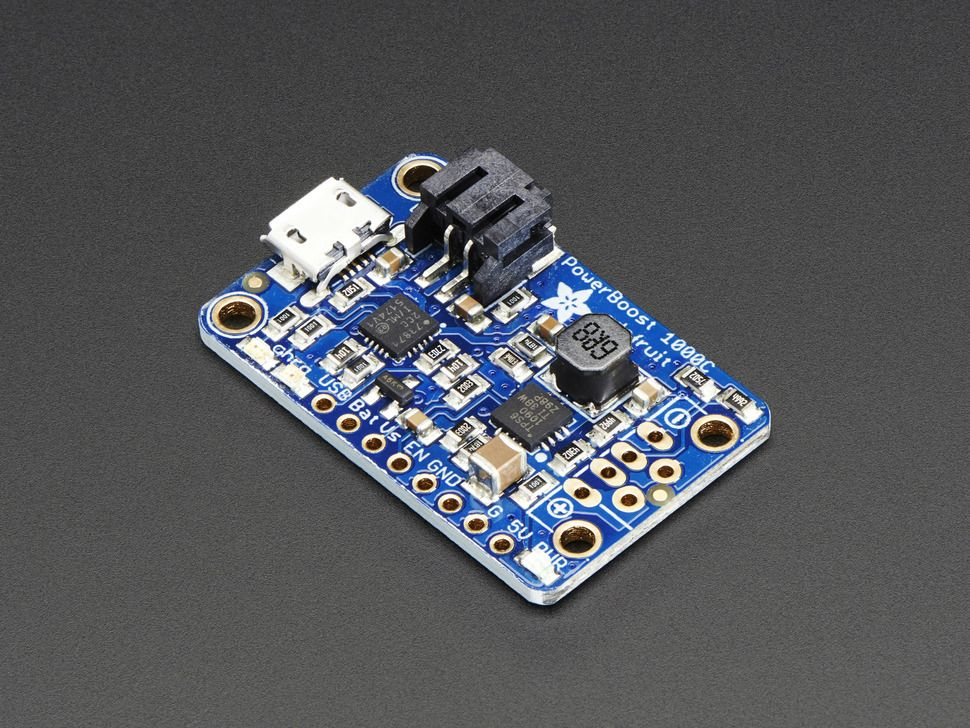 PowerBoost 1000 Charger - kapcsolóüzemű tápmodul LiIon/LiPo töltés funkcióval opcionális USB kimenet @ 1A - 1000C
