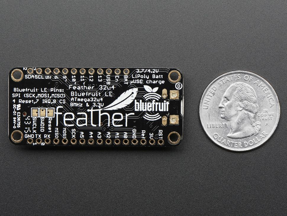 Adafruit Feather 32u4 Bluefruit LE - Atmel mikrovezérlő + Bluetooth LE
