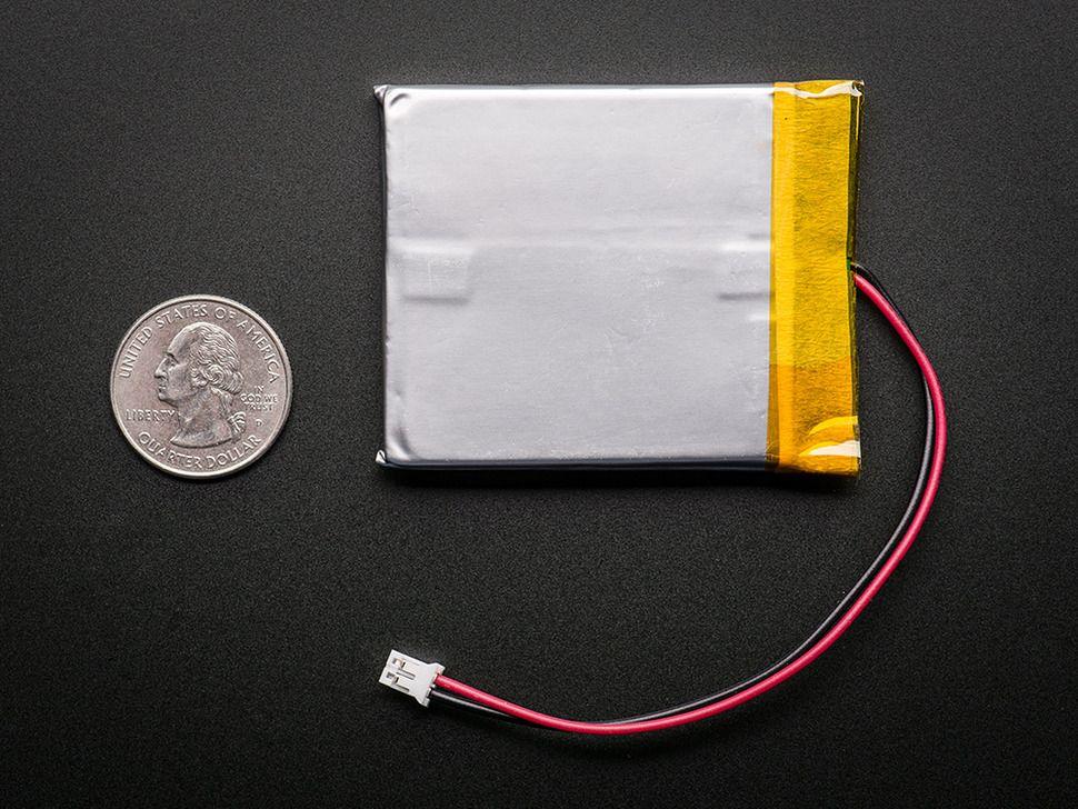 Lithium Ion Polymer Akkumulátor - 3.7v 2500mAh