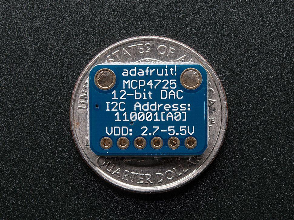 12 bites DAC I2C interfésszel Raspberry PI-hez - MCP4725
