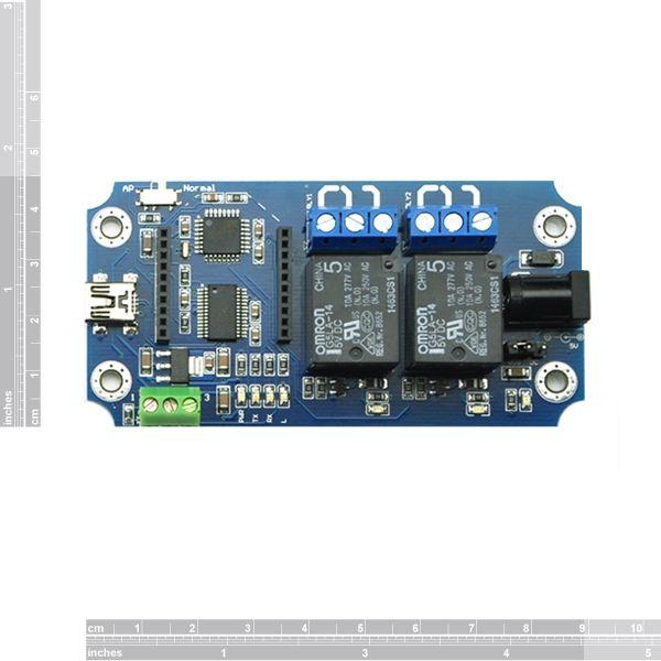 TOSR02-T  2 csatornás USB/Wireless relémodul - max 10A 250VAC