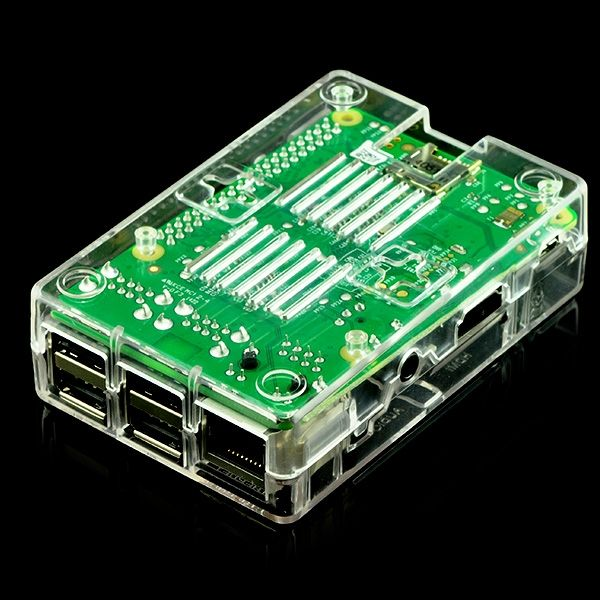 Pi Shell ház - átlátszó Raspberry PI Model B+