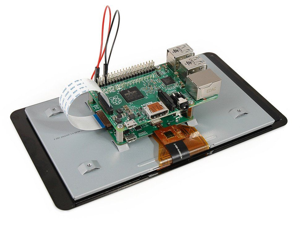 "Raspberry Pi 7"" Multitouch Display - Capacitive / multit-point (10) / DSI port"